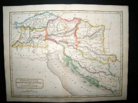 Adriatic, Croatia, etc. Vindelicia Et Illyricum: 1826 Antique Map. Butler